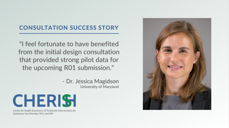 Graphic image featuring Jessica Magidson and one of her testimonials.